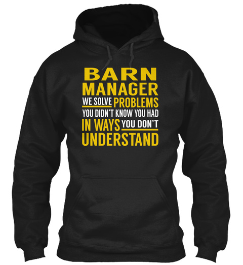 Barn Manager Black T-Shirt Front