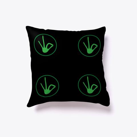 J Green Pillow Black T-Shirt Back