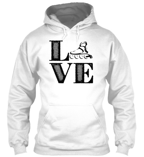 Roller Derby Love Shirts White T-Shirt Front