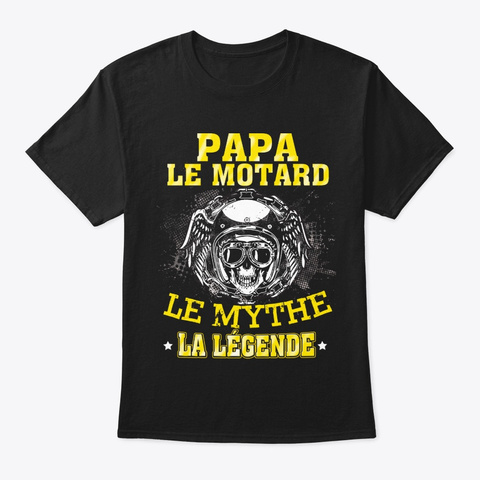 Papa Legende Black T-Shirt Front