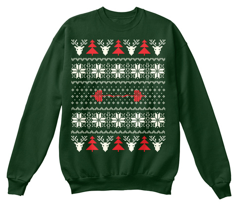 gym ugly christmas sweater and hoodie deep forest sweatshirt front - Christmas Hoodie