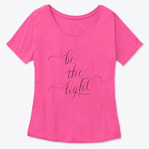 Be The Light | Soulful Calligraphic Tee Berry  T-Shirt Front