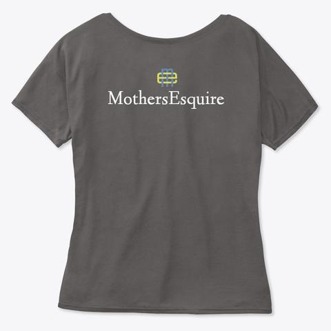 Mom Lawyer To Be Dark Grey Heather T-Shirt Back