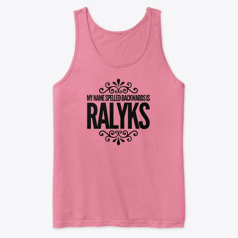 Skylar Spelled Backwards Neon Pink T-Shirt Front