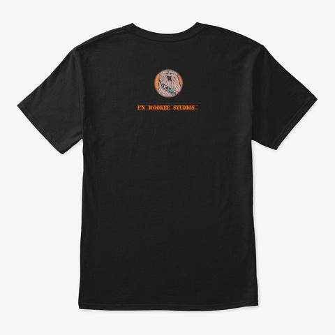 Bus Art  Black T-Shirt Back
