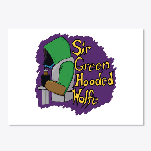 Sir Green Hooded Wolfe Purple White T-Shirt Front