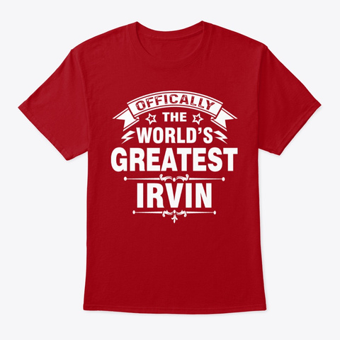 World's Best Irvin Gifts Deep Red T-Shirt Front