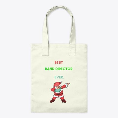Dabbing Santa Mask For Band Director's Natural T-Shirt Front
