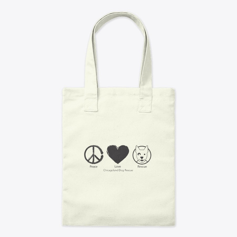 Cdr Peace Love Rescue Natural T-Shirt Front