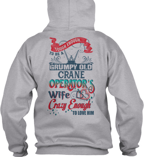 Crane Operator's Lady Christmas Special Sport Grey T-Shirt Back