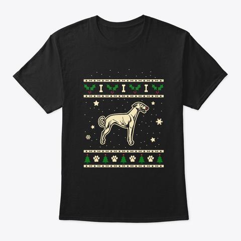 Christmas Hortaya Borzaya Gift Black T-Shirt Front