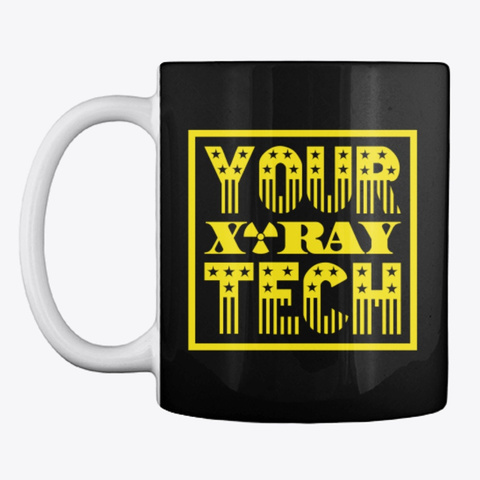 Your X Ray Tech™ Star & Stripes  Black T-Shirt Front