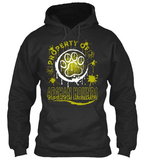 Afghan Hound Lover Funny Gift Jet Black T-Shirt Front