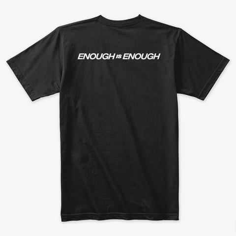 No More Hashtags Black T-Shirt Back
