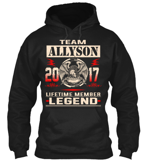 Team Allyson 2017 Black T-Shirt Front