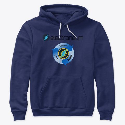 Etn   Learn, Earn & Live Navy T-Shirt Front
