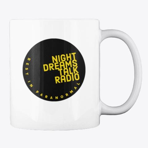 Night Dreams Talk Radio Round Mug 2021  White T-Shirt Back