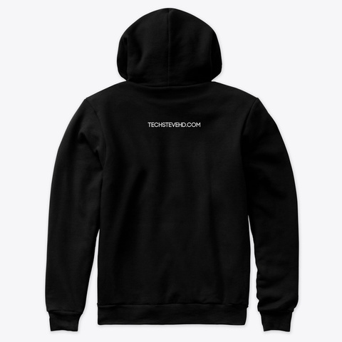 Black / Red Premium Pullover Hoodie Black T-Shirt Back