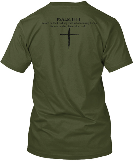 Psalm Military Green T-Shirt Back