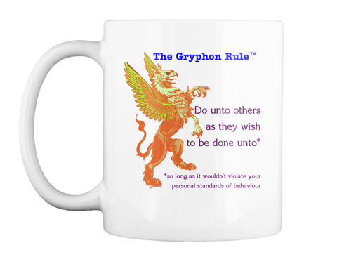 The Gryphon Rule White Mug Front