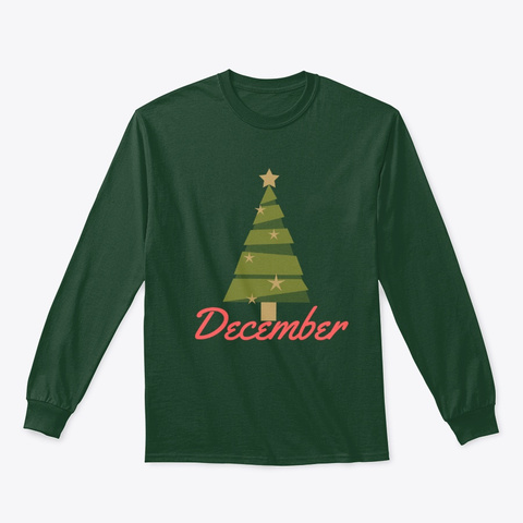December Forest Green T-Shirt Front