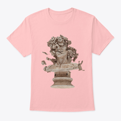 Busted Pale Pink T-Shirt Front