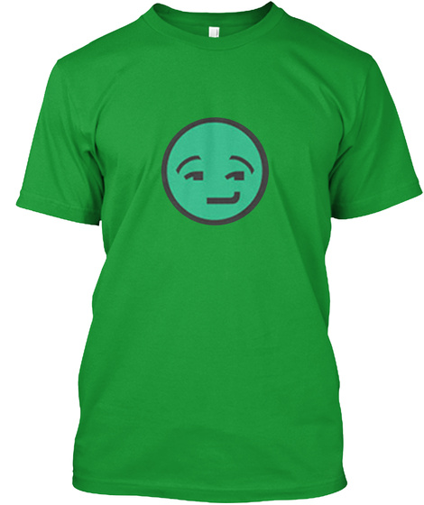 Riddles That Make You Smile Kelly Green T-Shirt Front