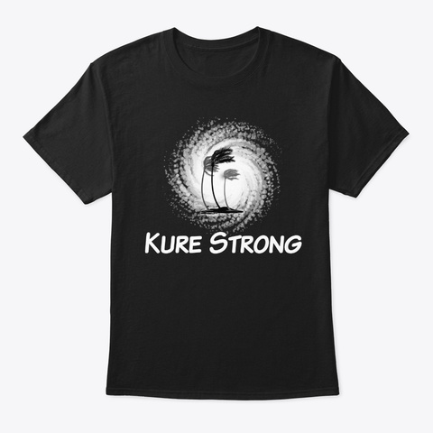 Hurricane Florence Kure Strong Palm Wind Black T-Shirt Front