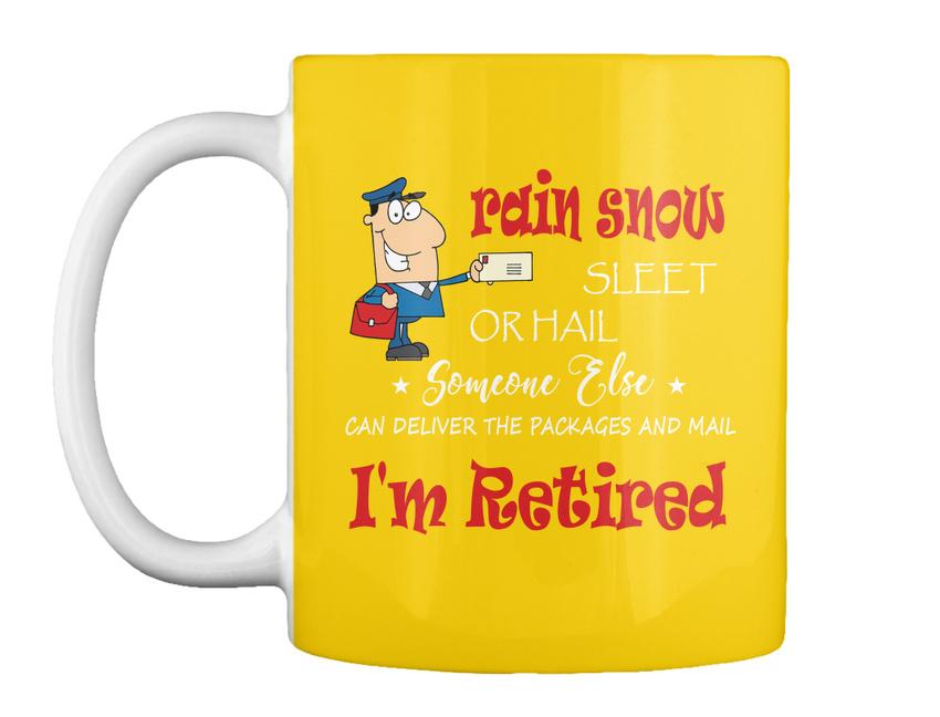 miniature 51 - Funny Retired Postal Worker Mailman Tee - Rain Suck Sleet Or Gift Coffee Mug