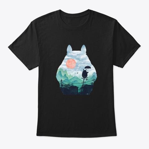 Totoro Amazing2 Black T-Shirt Front