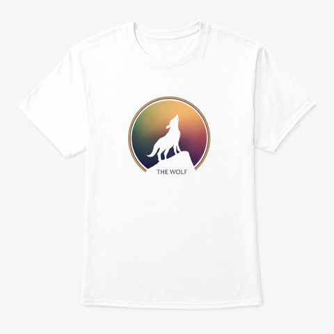 The Wolf T Shirt White T-Shirt Front