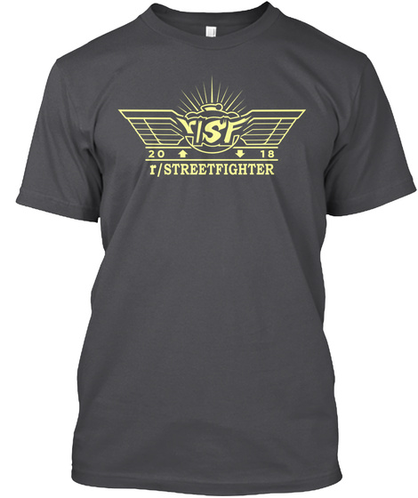 Risf 20 18 R/Streetfighter Charcoal T-Shirt Front