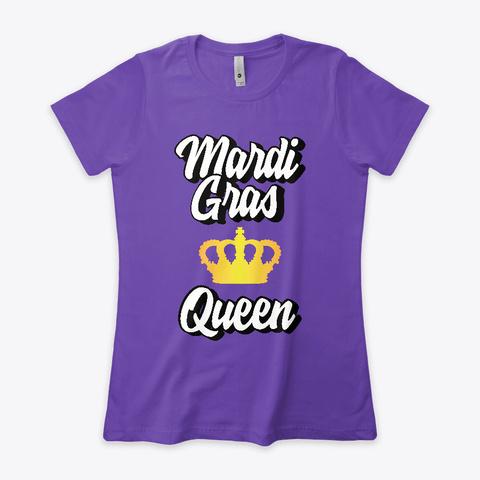 Mardi Gras Queen Purple Rush T-Shirt Front