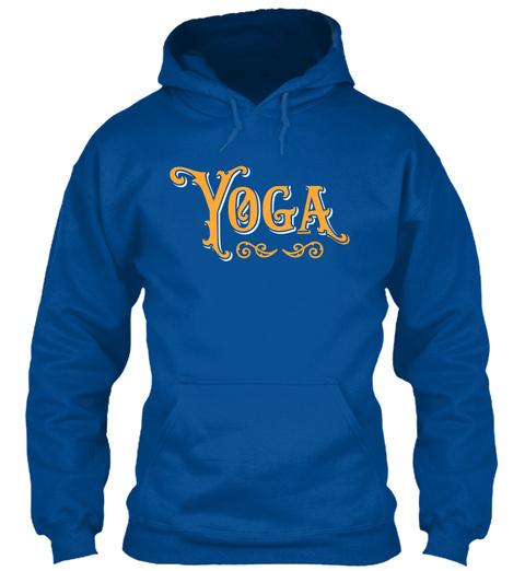 Yoga Orange Royal T-Shirt Front