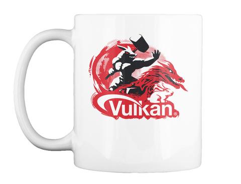 Vulkan White T-Shirt Front