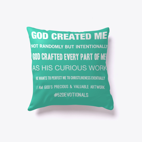 Inspirational Poems by Anna Szabo #52Devotionals Green Pillow