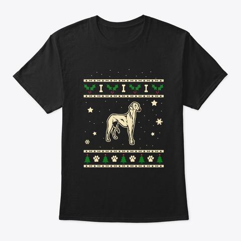 Christmas Azawakh Dog Gift Black T-Shirt Front