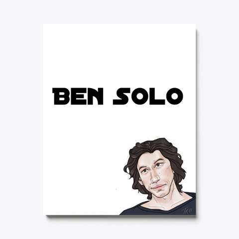 Caricature Ben Solo Fan Art White T-Shirt Front