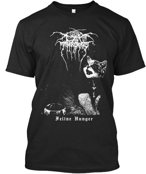 Feline Hunger Black T-Shirt Front