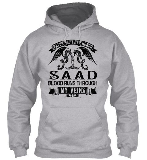 Saad   My Veins Name Shirts Sport Grey T-Shirt Front
