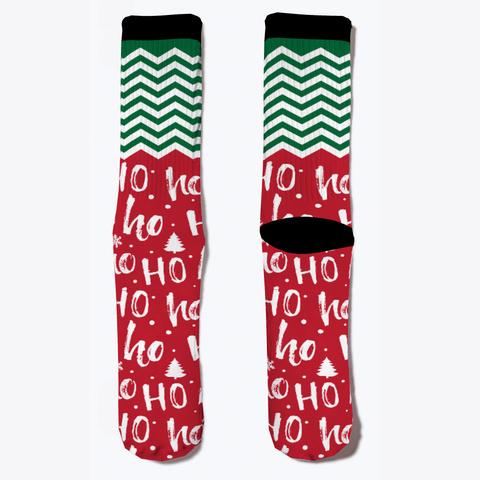 Christmas Ho Ho Ho Socks Pale Blue T-Shirt Front