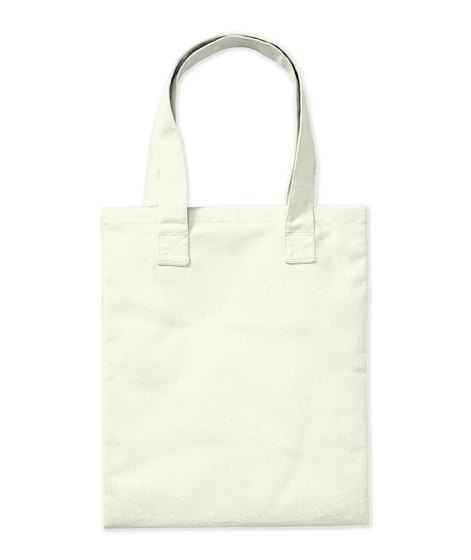 Kitty Puddle Natural Tote Bag Back