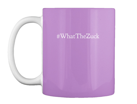 #What The Zuck Lilac T-Shirt Front