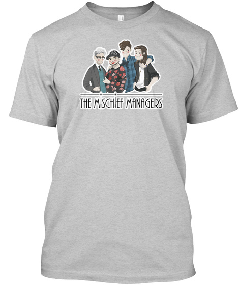 The Mischief Managers Light Steel T-Shirt Front
