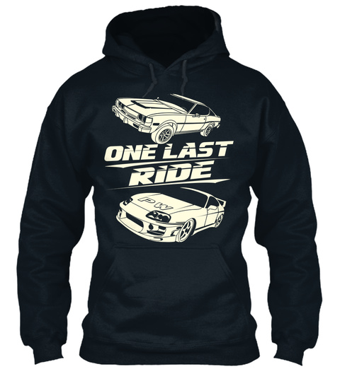 One Last Ride  French Navy T-Shirt Front