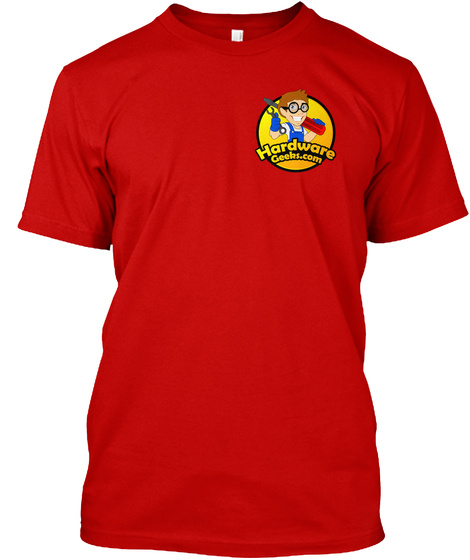 Hardware Geeks Red T Classic Red T-Shirt Front