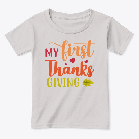 My First Thanksgiving Sport Grey  T-Shirt Front