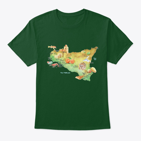 Sicily Deep Forest T-Shirt Front