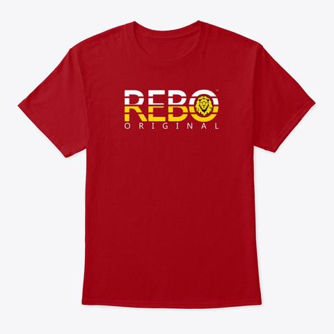 Rebo Ii T Shirt Deep Red T-Shirt Front