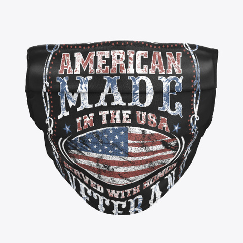 American Made Veteran Black T-Shirt Front